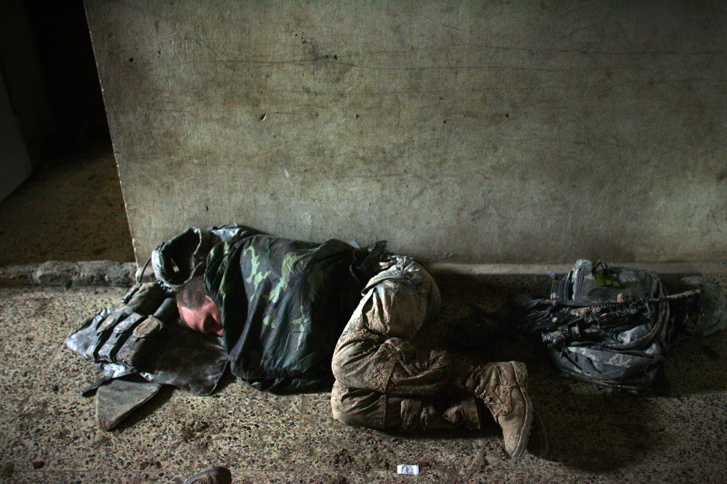 Sleeping Soldier Getty Images
