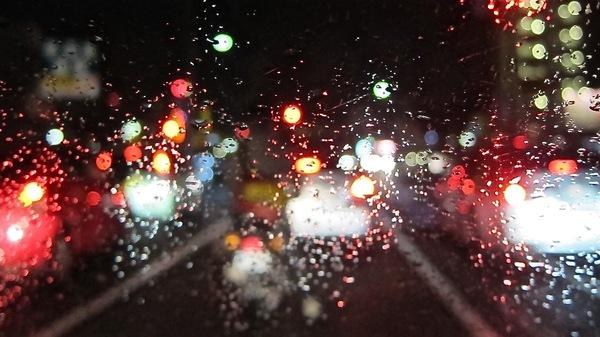 Med thumb blurry car lights