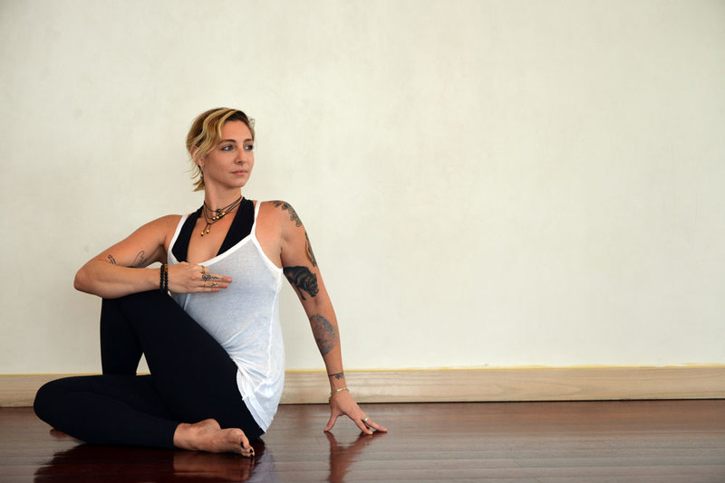 Morning Yoga Pose Seated Spinal Twist