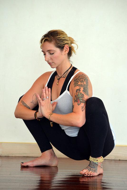 Morning Yoga Pose Malasana