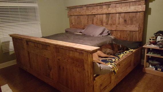 Etsy User DoggieDilemma King Size Dog Bed