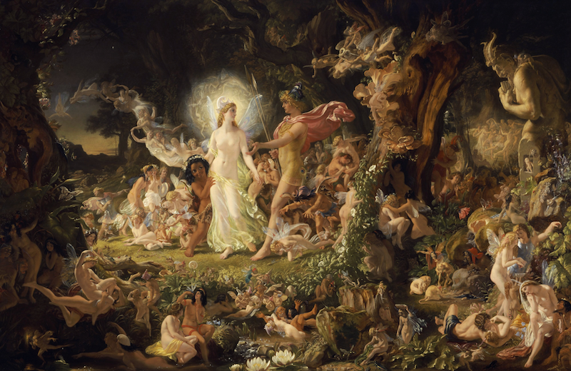 The Quarrel of Oberon and Titania by Joseph Noel Paton