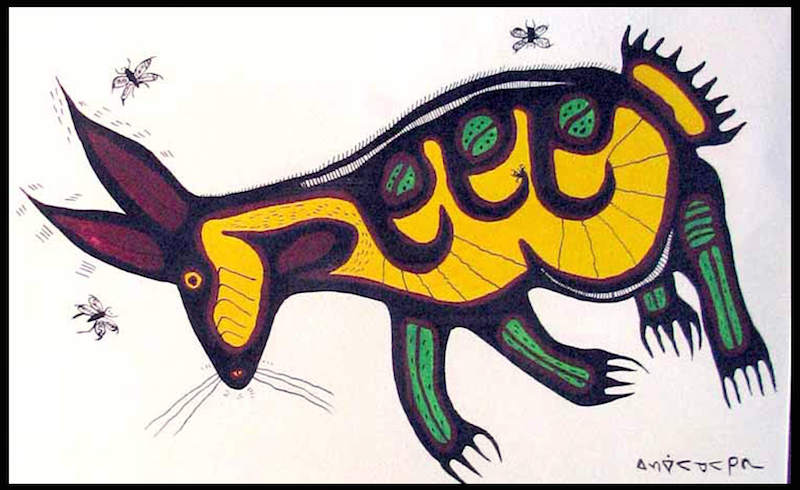 The Great Rabbit Nanabozho (Untitled) Norval Morrisseau