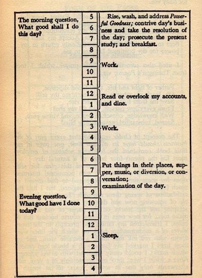 Franklin Schedule