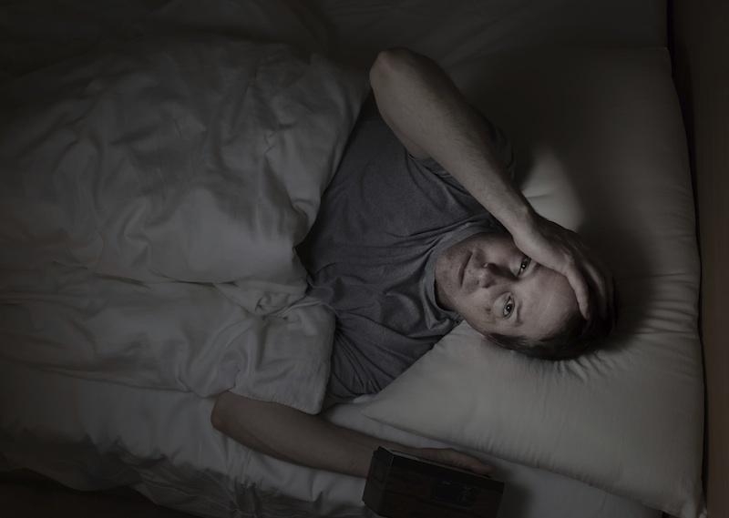 awake in bed