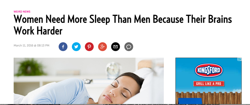 fatherly screen shot women sleep