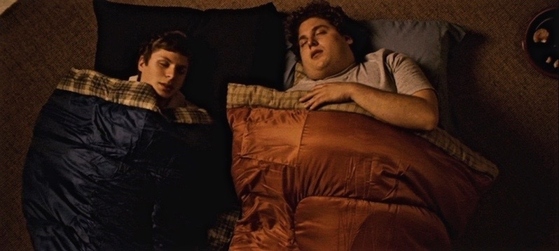 superbad sleepover scene
