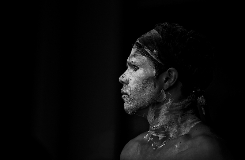 Aboriginal Dancer Facepaint
