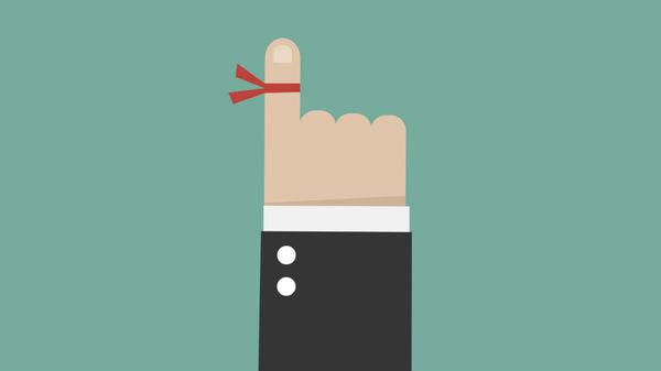 Med thumb ribbon around finger main